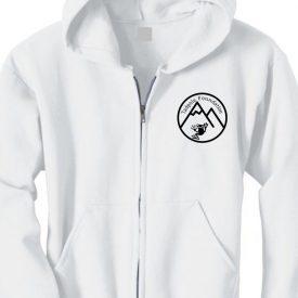 White Zipper Sweatshirt with Tadpole Logo